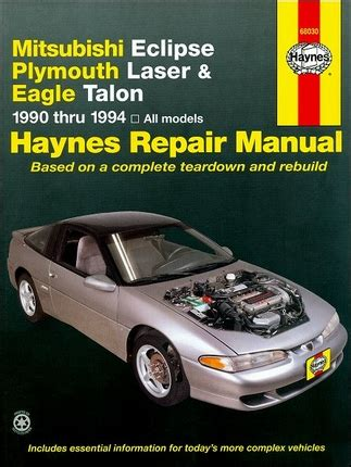 auto repair manual online 1994 eagle talon lane departure warning mitsubishi eclipse eagle talon plymouth laser repair manual