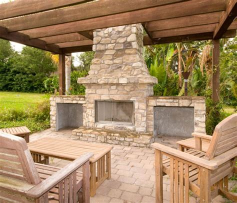Outdoor Pits And Fireplaces by Outdoor Chimney Pit Patio Design