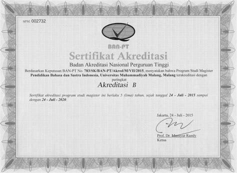 Surat Keterangan Akreditas by Contoh Surat Akreditasi Program Studi Buku 3a Akreditasi