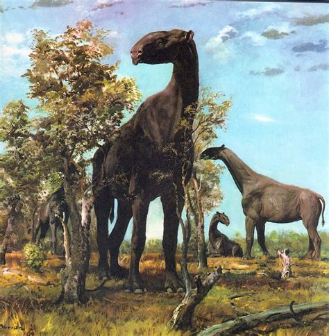 painting dinosaurs in the time of chasmosaurs vintage dinosaur