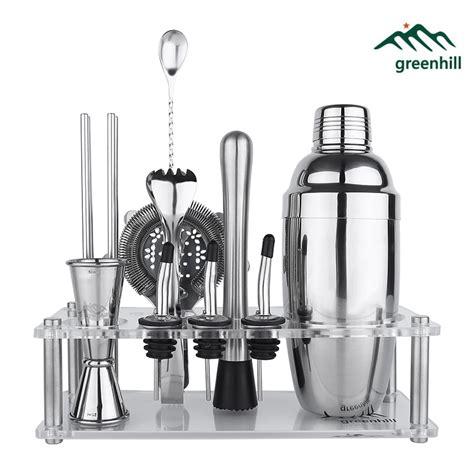 Barware Accessories by Greenhill Premium Bar Tool Set 9 Pieces Barware