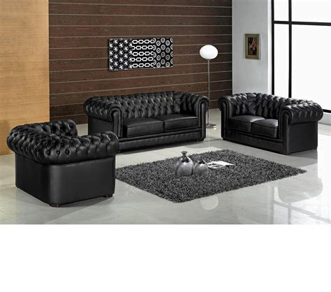 Dreamfurniture Com Divani Casa Paris Transitional Tufted Leather Sofa Set