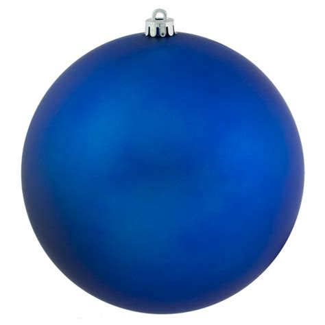 blue shatterproof baubles single 250mm matt