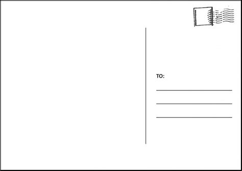 Printable Card Templates by Printable Postcards Template Beneficialholdings Info