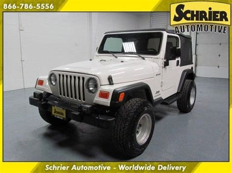 2003 white jeep wrangler find used 2003 jeep wrangler 4x4 automatic white