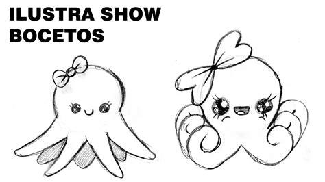 imagenes kawaii para dibujar facil como dibujar pulpos kawaii tutorial ilustra show youtube