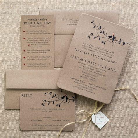 Bird Wedding Invitations