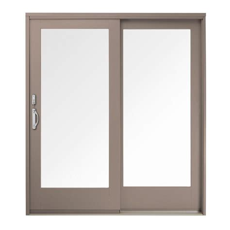 Andersen Sliding Patio Door Andersen 60 In X 80 In 400 Series Frenchwood Sandtone Left Sliding Patio Door Pine