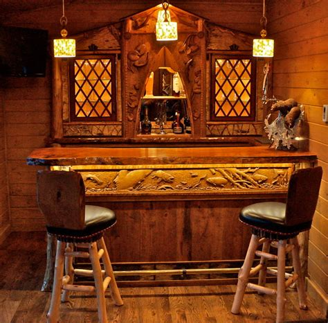 Rustic Home Bar Rustic Home Bar Room