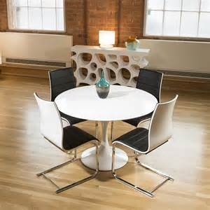 Black Dining Table White Chairs Tulip Style Dining Table White Gloss 4 Black White Chairs Ebay