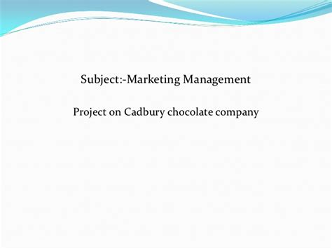 Mba Ppt On Advertising by Cadbury Ppt Bec Doms Bagalkot Mba
