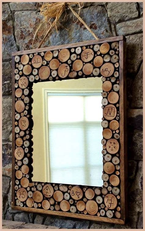 wood branches home decor diy home decor how cool is this diy wood slice mirror