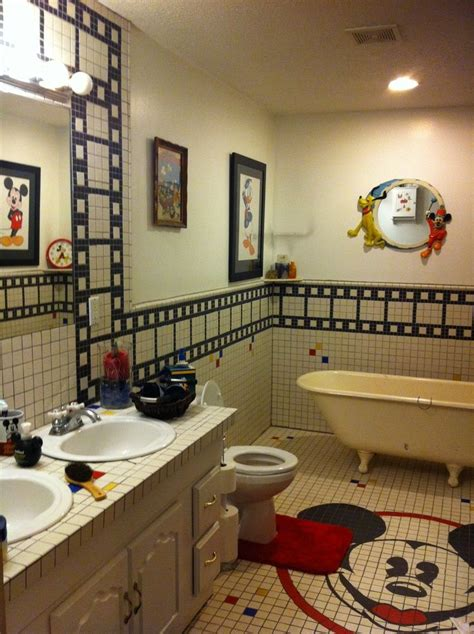 bathroom home decor disney mickey mouse bathroom home decor designs ideas