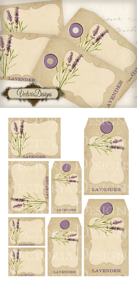 printable lavender labels printable lavender tags and labels by vectoriadesigns