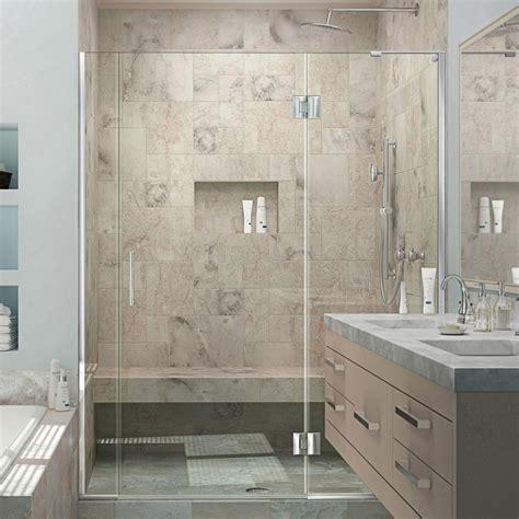 Best Frameless Shower Doors Reviews Dreamline Unidoor X 58 In To 58 1 2 In X 72 In Frameless Pivot Shower Door In Chrome