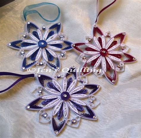 quilling natalizio tutorial quilled snowflake christmas ornaments quilling