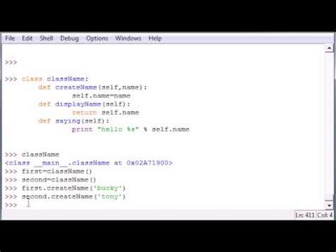 tutorial on python programming python programming tutorial 33 classes and self youtube