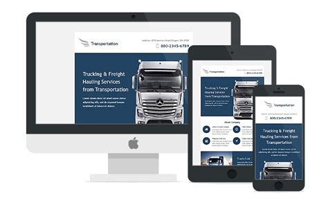 responsive business services newsletter templates