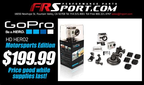 gopro price frsport big price drop on gopro hd hero2 motorsports