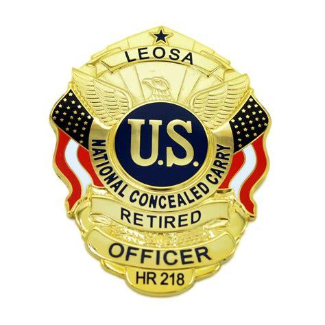 Retired Officer LEOSA Badge Medallion Concealed Carry ... Leosa Police