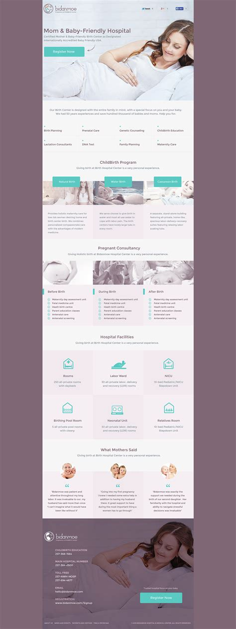 themeforest unbounce bidanmoe childbirth unbounce landing page by celldesign