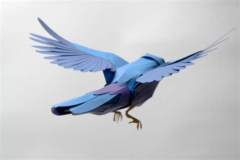 How To Make Bird Using Paper - paper birds by andy singleton colossal