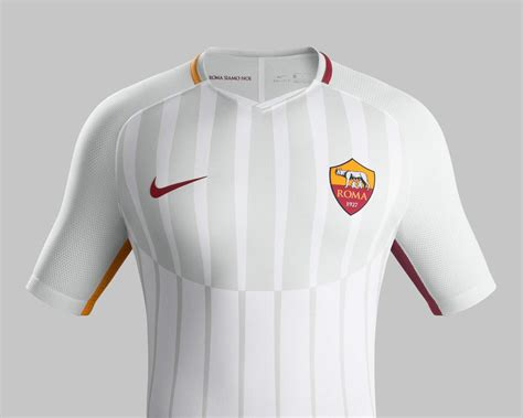 Sale Jersey As Roma Away Putih 2017 2018 Grade Ori as roma 17 18 away kit revealed footy headlines