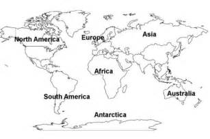 Outline Of Continent by World Continents Map Free Printout Picture Free Images At Clker Vector Clip
