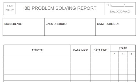 sle corrective report 8d report sle pdf 28 images 8d template excel http