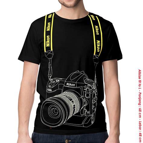 Kaos Distro Kamera pakaian pria murah kaos baju tshirt kamera nikon