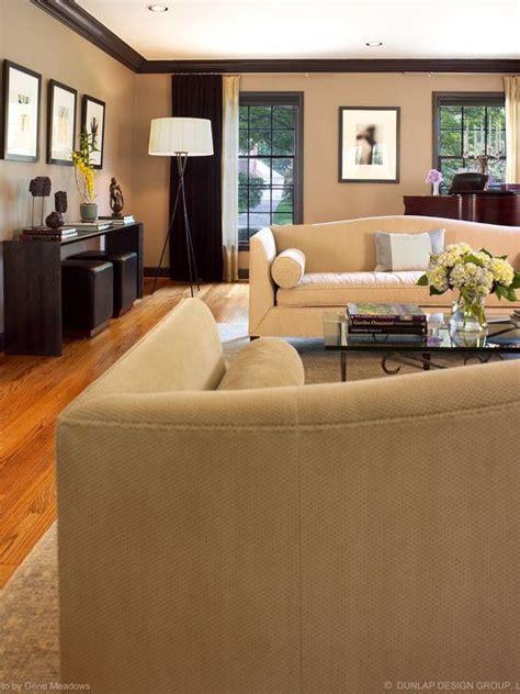beige living room walls living room brown trim beige walls and dark brown trim