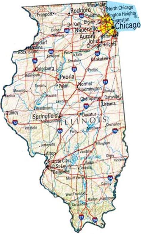 maps usa illinois illinois map