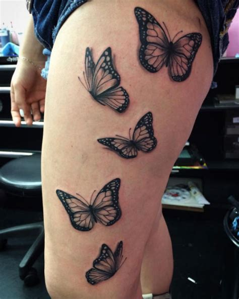 butterfly tattoo thigh 28 beautiful black and grey butterfly tattoos tattooblend