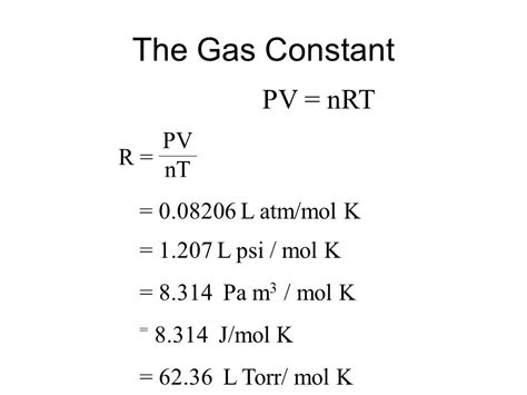 The Gas L by The General Gas Equation Combined Gas Ppt