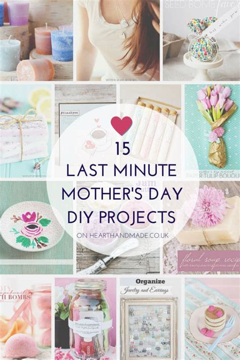 Last Minute S Day Gift Ideas 15 Last Minute Mother S Day Diy Projects Gift Ideas