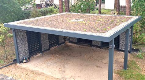 dachkonstruktion carport gabionen carport steelmanufaktur