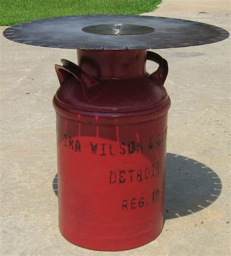 Milk Can Table by 25 Best Ideas About Milk Can Table On Patio Table Painted Milk Cans And Milk