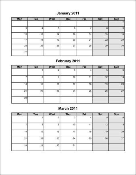 quarter calendar template printable quarter 2016 calendar calendar template 2016