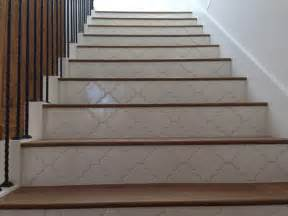 Tile Floor Wood Stairs by Landmark Mohave Wood Stairs With Tile Risers