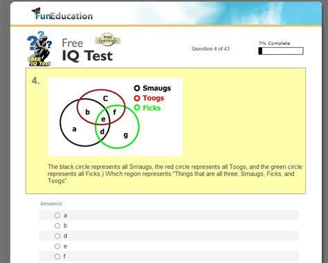 free iq test free and accurate iq test