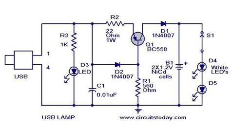 electronic circuits projects usb led l circuit