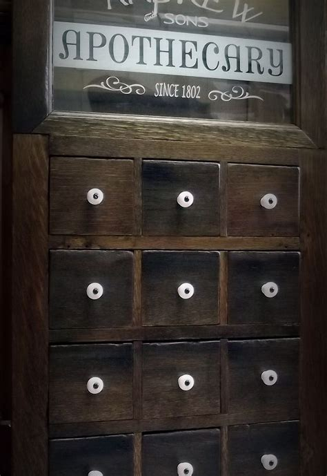 Apothecary Style Medicine Cabinet Door Using Salvaged Apothecary Bathroom Cabinet