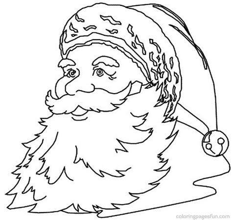 coloring pages to print of santa free coloring pages of santa claus face