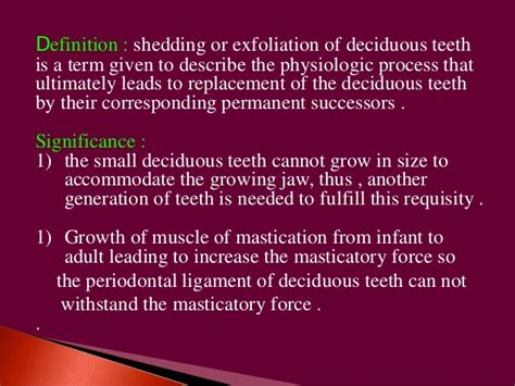 Definition Of Shedding by Shedding Of Deciduous Teeth