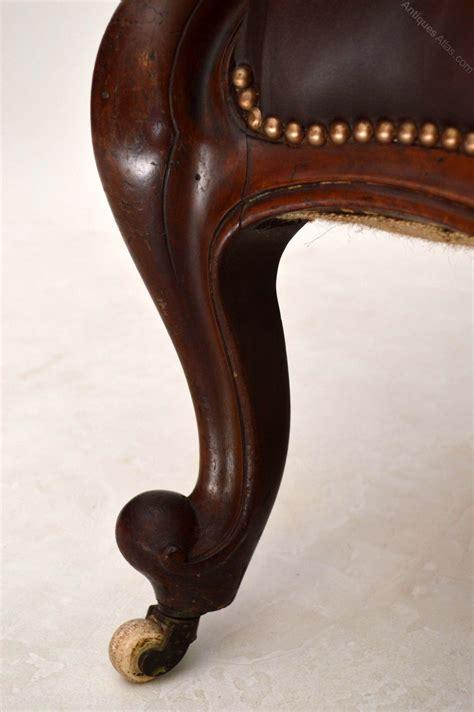 antique leather armchair antique victorian mahogany leather armchair antiques atlas