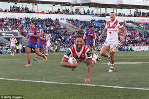 nfl supporters rugby league nrl scores nrl ladder fox sports nrl star nathan ross scores an amazing superman try for