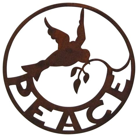Design Lighting And Home Decor by Peace Sign Wall Garden Art Traditional Outdoor Wall