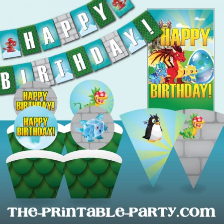 party city party lights printable dragon city party decorations the printable