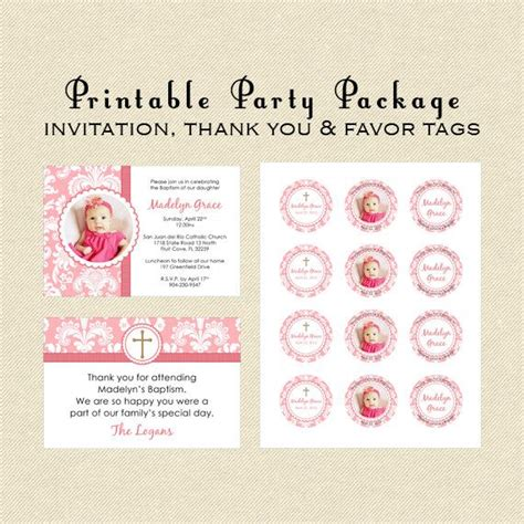 printable baptism tags printable party package baptism christening