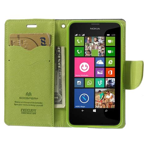 nokia lumia 630 635 nokia lumia 630 635 blue fancy wallet case